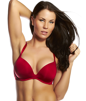 Calvin Klein - Push Positive Bra Red